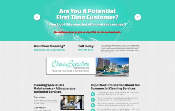Cleaning Specialists Maintenance