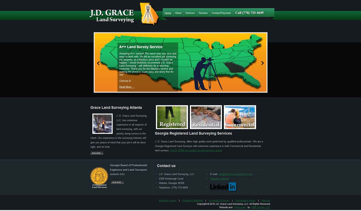 Grace Land Surveying - DBR Visuals Web Design and SEO Company